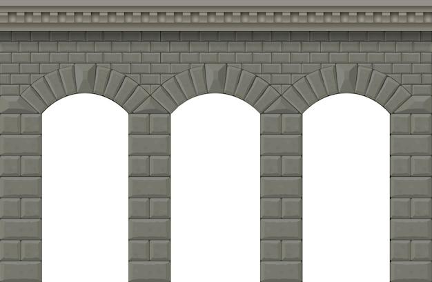Mur avec des arches