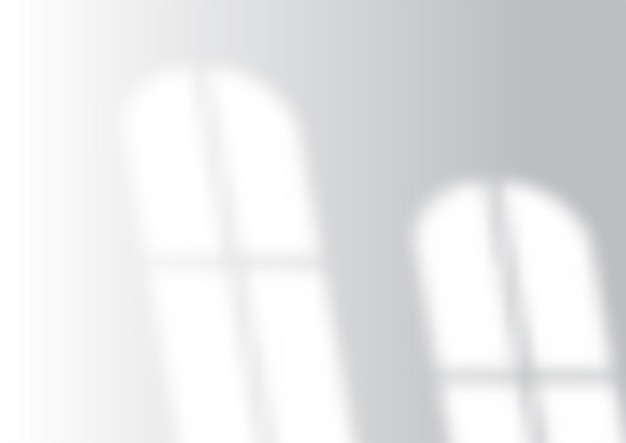 Mur blanc avec superposition d'ombre de fenêtre
