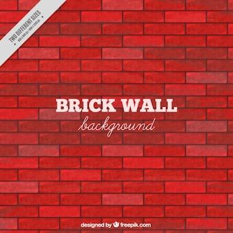 Mur de briques dans des tons rouges