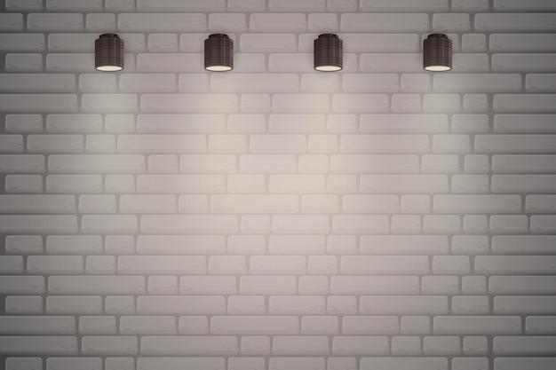 Mur de briques avec fond de spots