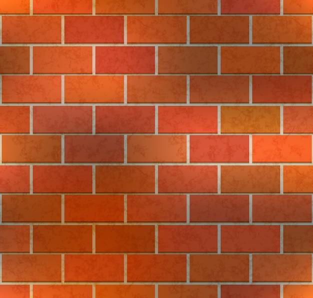 Mur de briques marron vif avec texture, modèle sans couture