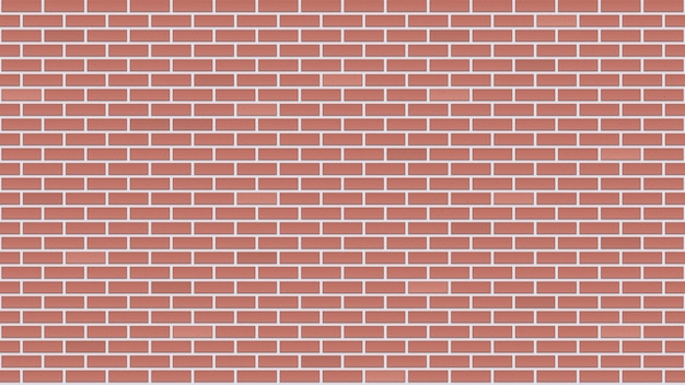Mur de briques sans soudure.