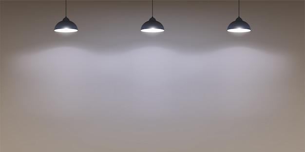 Mur avec des lumières