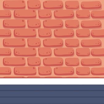Mur orange avec sol