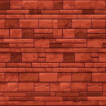Mur de pierre de brique de modèle sans couture pour le jeu d'interface utilisateur. illustration d'un arrière-plan fissuré sale répétitif pour la conception graphique du jeu.