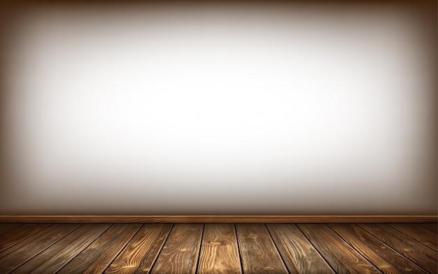 Mur et sol en bois avec surface vieillie, réaliste