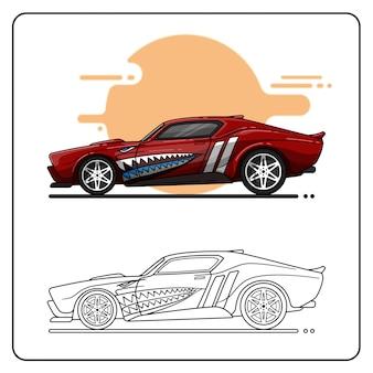 Muscle car easy editable