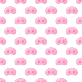 Museau de cochon. modèle sans couture festif pour le nouvel an 2019.