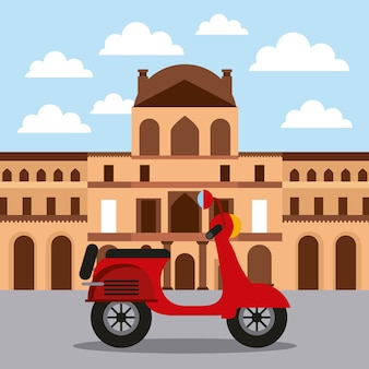 Musée du louvre historique et architecture de la moto