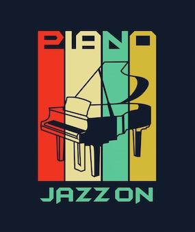 Music piano for t shirt conception