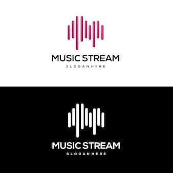 Music spectrum logo abstrait dégradé coloré