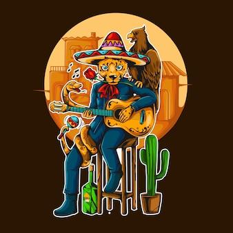 Musicien de la culture animale mexicaine