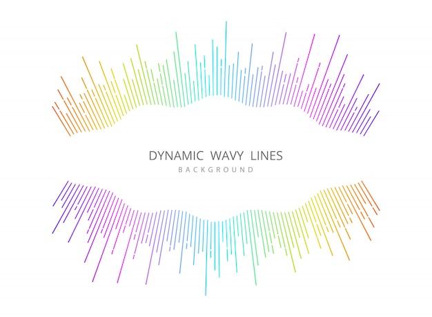 Musique abstraite ligne ondulée ligne fond de conception de couverture coloré