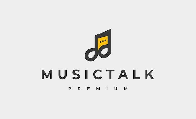 Musique chat logo design illustration vectorielle
