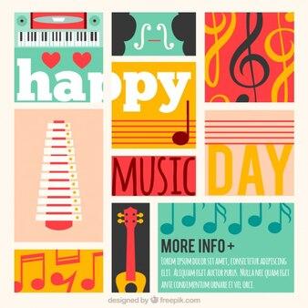 Musique colorée carte du jour