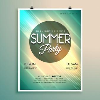 Musique d'été modèle de party flyer avec des détails de l'événement