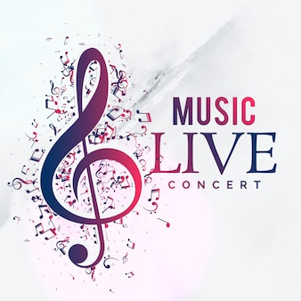 Musique live concert affiche flyer template design