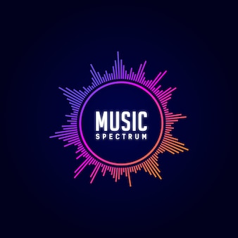 Musique de logo, égaliseur, dj, spectre, coloré,