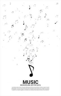 Musique mélodie note flux de danse.