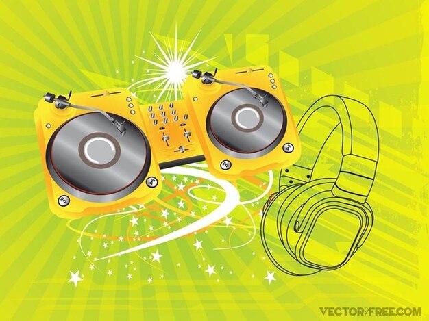 Musique nightlife club de graphiques vectoriels