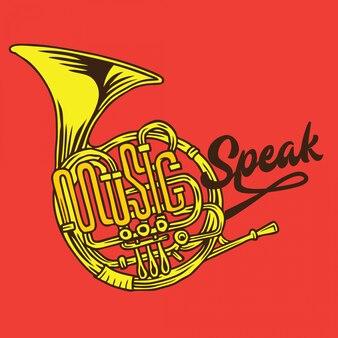 Musique parle typographie