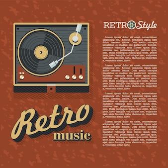 Musique rétro. lecteur pour disques vinyles. logo, icône.