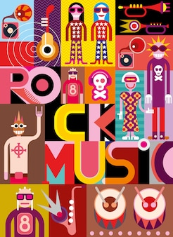 Musique rock - illustration vectorielle