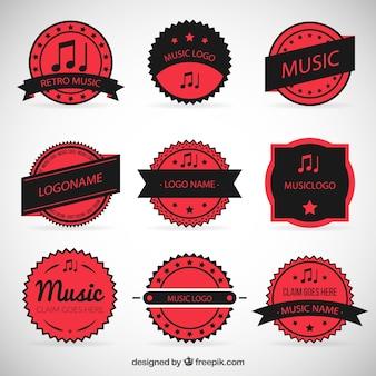 Musique rouge insignes collection