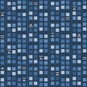 Musique sans soudure audio avec motif de symbole brillant d'argent sur fond bleu