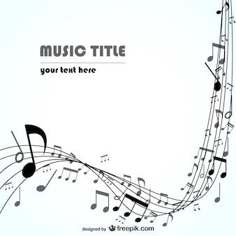 Musique vecteur de fond