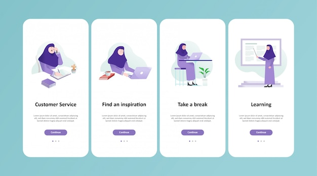 Un musulman travaille sur la conception d'applications