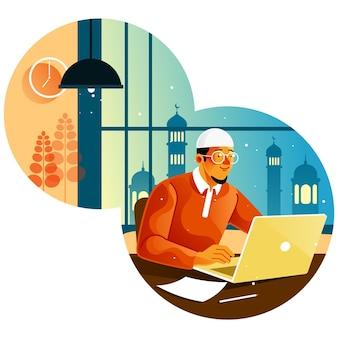 Les musulmans travaillent dans les bureaux