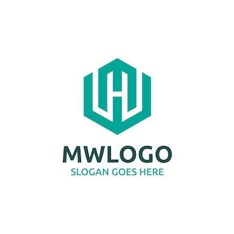 Mw lettre logo