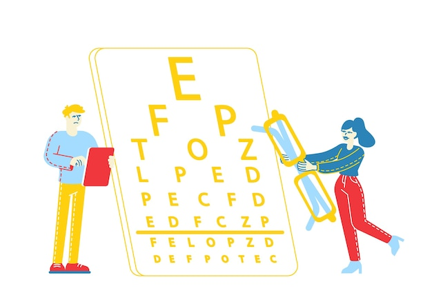Myopie ou maladie de myopie des yeux et du système optique