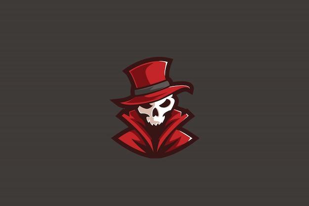 Mystérieux rouge e sports logo