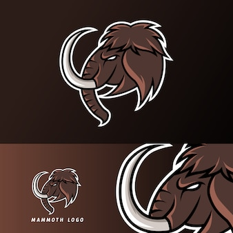 Myth mammouth elephant mascotte sport gaming esport logo modèle pour streamer squad team