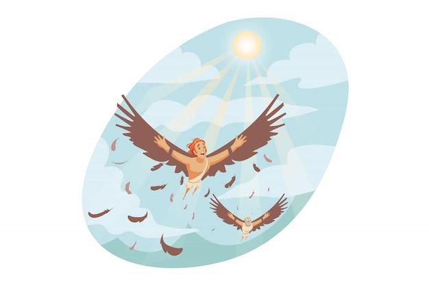 Mythologie, grèce, olympe, concept de religion