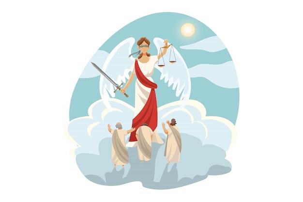 Mythologie, grèce, olympe, légende, concept de religion.
