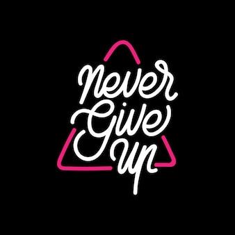 N'abandonnez jamais la typographie