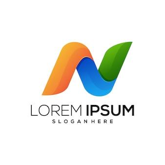 N logo entreprise colorée