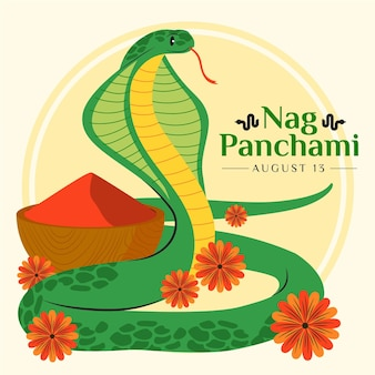 Nag panchami illustration