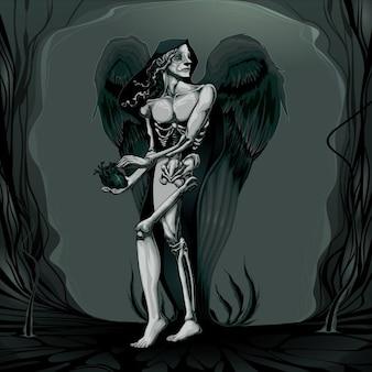 La naissance du mal vector illustration