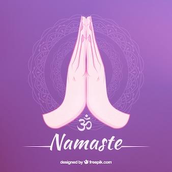 Namaste geste avec un style adorable