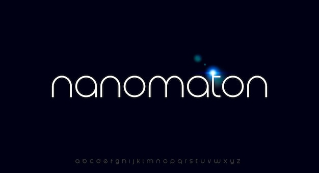 Nanomaton une police d'affichage arrondie en minuscules avec un thème minimaliste moderne