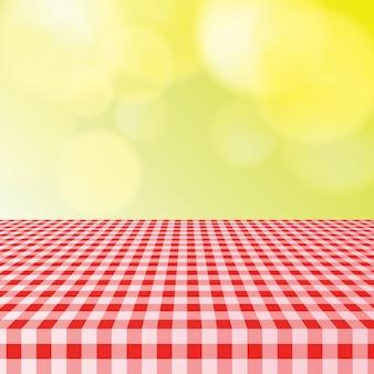 Nappe de table de pique-nique avec lumière bokeh