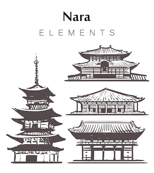 Nara set bâtiments