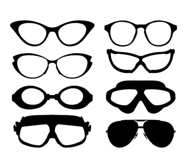 Natation plongée plus et moins lunettes