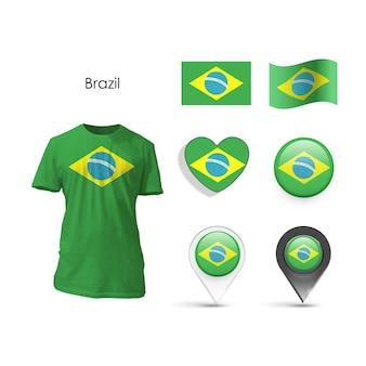 Nation blanche portant le commerce brésil