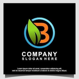 Nature avec création de logo de police b