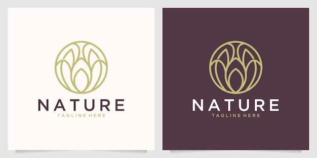 Nature élégante avec création de logo d'art en ligne